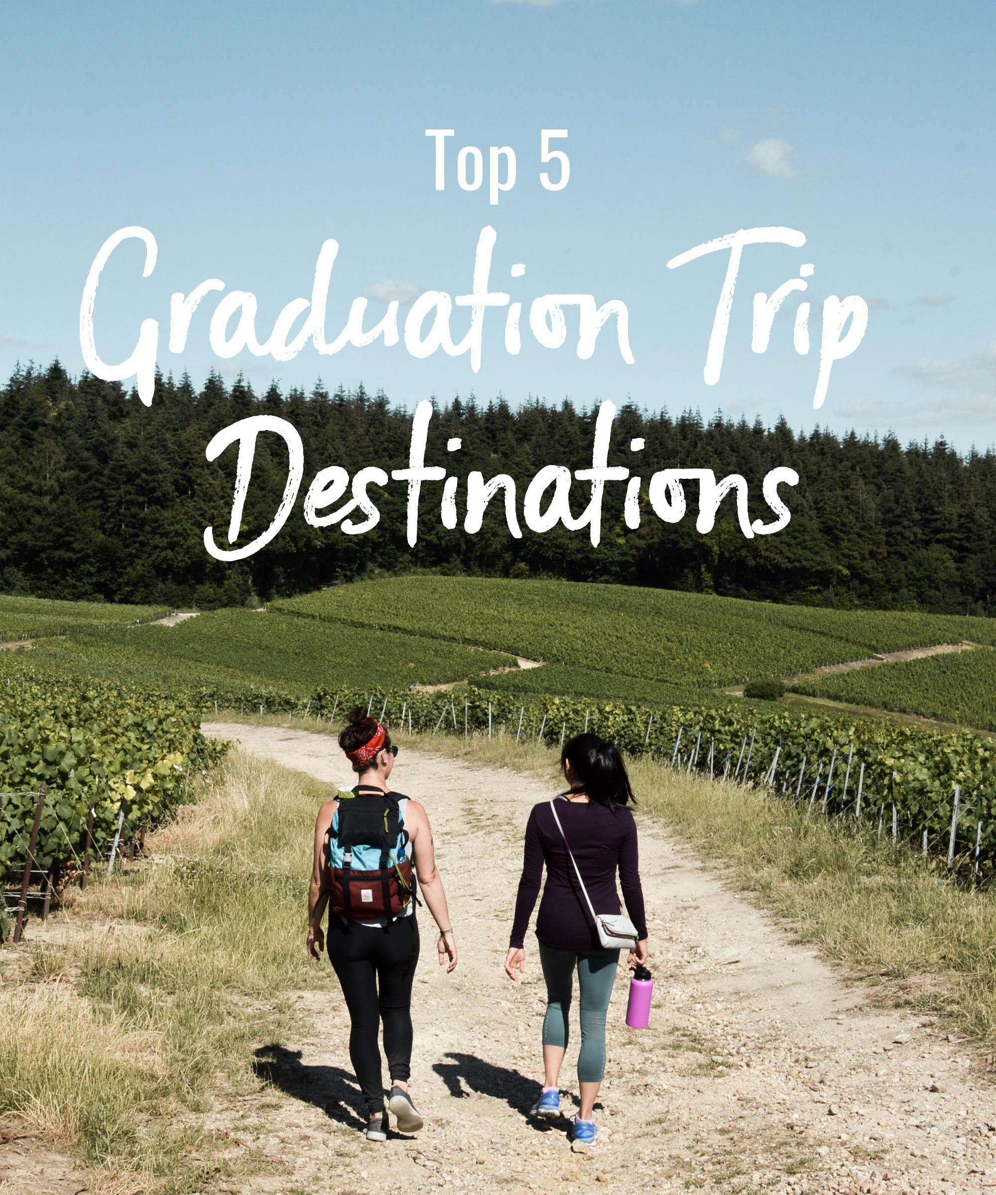 Top 5 Graduation Trip Destinations