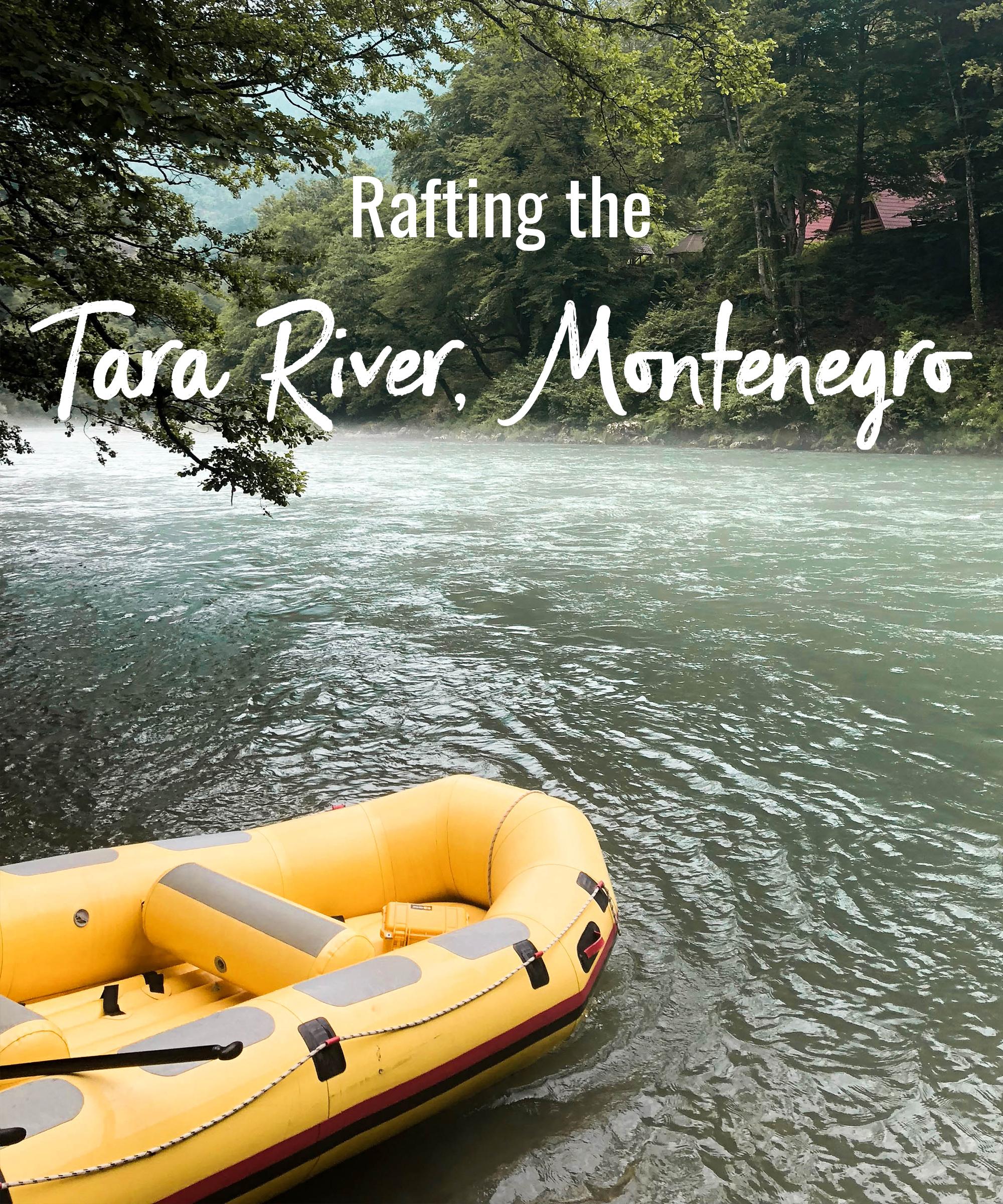 Rafting the Tara River, Montenegro